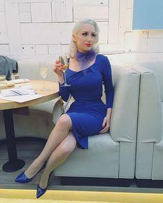 Got the blues?  shop @ChicagoChicBlog 's look on our website now search under Dakota Cobalt sleeved dress.  Pretty Dress Company and Rachel Jensen (59) Twitter