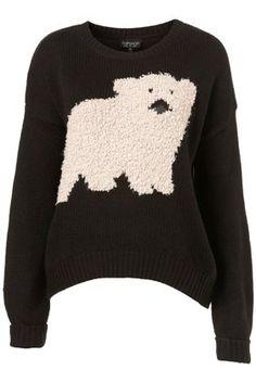 TOPSHOP : Polar Bear Motif Sweater