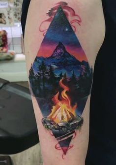 Campfire Tattoo Cover-Up   The Kwan   Tattoos, Cover ...