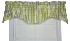 Charlestown Check M Valance Window Curtain, Seafoam by Ellis Curtain. Save 11 Off!. $26.57. Rich colors with small scale multi colored check pattern will bring a warm and inviting feel to any room. Measurements 70-inch overall width; 15-inch overall length. 100% Cotton. Coordinating drapes and tailored tier curtains available thru Amazon; Made in the USA; Dry clean recommended. 7-Ounce 100-percent cotton duck fabric creates a smoother draping effect. Constructed with a 3-inch r...