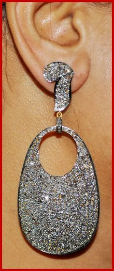 """""""Facundo"""" Price: $2,090    13.34ct ROSE CUT DIAMOND 14k GOLD VICTORIAN DANGLE/EARRING ♥    Signature Victorian Collection....known for its international taste and appeal!    Imported, world-class quality, not pre-owned, not pawned, not stolen. WE DELIVER WORLDWIDE ♥"""