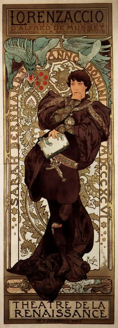 I utterly love Alphonse Mucha! I especially like it when he draws males (as rare as that is, and even when it's most likely Sarah Bernhardt in drag! ^^).