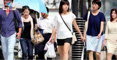 """Tufão N18 elevou a temperatura em algumas cidades do Japão, trazendo """"temperaturas de verão""""."""