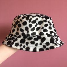 9a17000ee337 Super funky faux fur dalmatian bucket hat! Handmade by for - Depop Bucket  Hat,