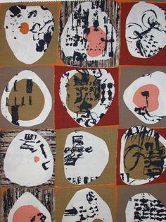 Lucienne Day - cadenza Lucienne Day, Textile Patterns, Textile Design, Fabric Design, Print Patterns, Robin, Retro Fabric, Art Deco Design, Vintage Textiles