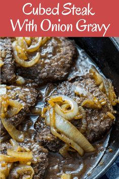 How To Make Cubed Steak In A Mushroom Onion Gravy Recipe . Skillet Garlic Butter Steak And Shrimp The Recipe Critic. Cubed Steak And Gravy Recipes Squared. Home and Family Steak Marinade Recipes, Easy Steak Recipes, Grilled Steak Recipes, Healthy Diet Recipes, Meat Recipes, Dinner Recipes, Cooking Recipes, Steak Meals, Cooking Tips