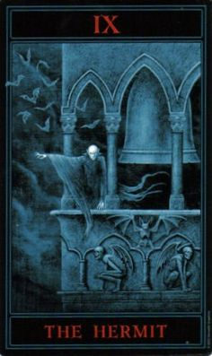 The Gothic Tarot: The Hermit.