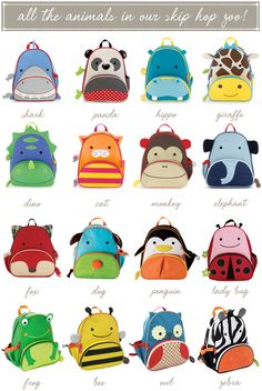 Go Back to School with Skip Hop! I absolutely love these backpacks!! :)