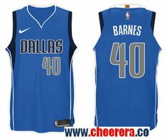 fa94ab65e Men s Nike NBA Dallas Mavericks  40 Harrison Barnes Jersey 2017-18 New  Season Blue