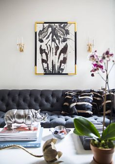 See more images from Jenna Snyder-Phillips Art Transforms a 400-square-foot Apartment on domino.com