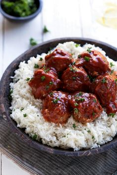 Crockpot Porcupine Meatballs - easy and delicious!