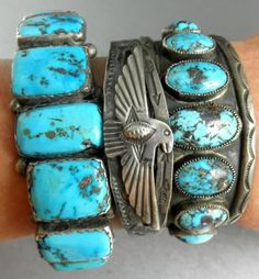 Repousse Thunderbird Old Fred Harvey Era Arrows Navajo Early 30's Cuff Bracelet