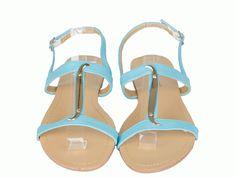 Sandale Dama Snake Blue  -Sandale dama talpa joasa  -Design interesant  -Se inchid cu catarama lateral exterior  -Detaliu auriu
