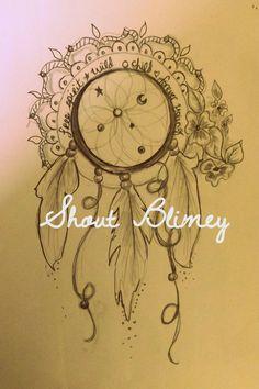 Dreamcatcher Tattoo Design by ShoutBlimey on Etsy