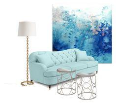 """Calm..."" by riviaa ❤ liked on Polyvore featuring interior, interiors, interior design, home, home decor, interior decorating, Natures Jewelry, Luigi Bormioli, Kate Spade and Arteriors"