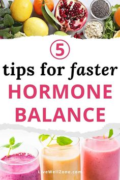 When you're trying to balance your hormones naturally, it can be hard to know where to start with your hormone balance diet. This article simplifies things by giving you five strategic tips that can give you quick relief. It includes tips on hormone balancing drinks, supplements, smoothies and more. Foods To Balance Hormones, Balance Hormones Naturally, Adrenal Health, Estrogen Dominance, Female Hormones, Hormonal Acne, Hormone Imbalance, Hormone Balancing, Pcos