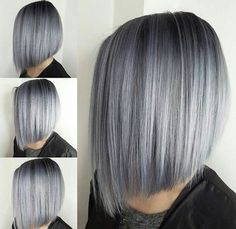 Wigs For White Women Best Hair Dye To Cover Grey RootsGray Cover Up – wigbaba Grey Hair Wig, Silver Grey Hair, White Hair, Silver Ash, Short Silver Hair, Short Hair Cuts, Short Hair Styles, Best Hair Dye, Gray Hair Highlights