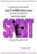 Cheerleading certificate cheerleading by nanaspartyprintables free printable cheerleading certificates cheerleading awards to print cheerleader certificates pep squad certificate templates for kids yelopaper Image collections