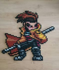 Marvel's X- Men Gambit Perler Beads by 89P13