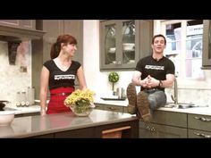 Mark and Theresa talk cabinets at the Kitchen and Bath Industry Show