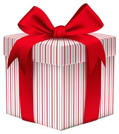 Gift Box with Bow PNG Clipart Image