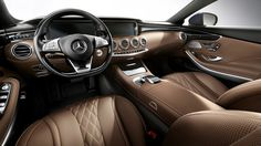 2015-S-CLASS-COUPE. Front interior shot. A lot like the sedan... I was hoping that they would carry over more of the concept design, but what are you gonna do.