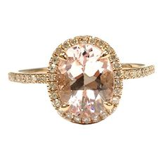$439 Oval Morganite Engagement Ring Pave Diamond Wedding 14K Rose Gold 6x8mm LOGR-Morganite Rings http://www.amazon.com/dp/B00F91R0S0/ref=cm_sw_r_pi_dp_Oz4Vwb1PVSRVZ