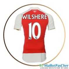 Maillot foot Arsenal rouge WILSHERE 10 Domicile 15 2016 2017