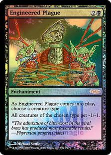 Magic The Gathering MTG Engineered Plague (FNM Foil) Promotional Cards (Foil) Condition:  NM/M $2.99