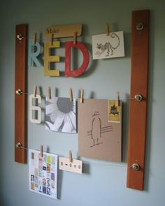 This DIY bulletin board is like a real life, olden days, analog non-electronic Pinterest board!