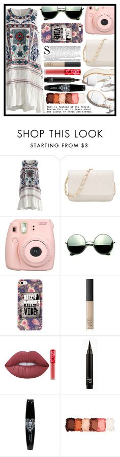 """""""Throw on dress"""" by samantha-cornell ❤ liked on Polyvore featuring Chicwish, Paloma Barceló, Fujifilm, Revo, NARS Cosmetics, Lime Crime and NYX"""