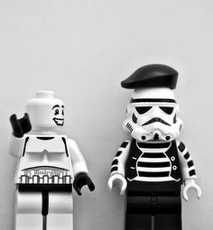 Stormtrooper mime, at least they are the same colour