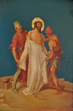 Station 10: Jesus is stripped of His garments.
