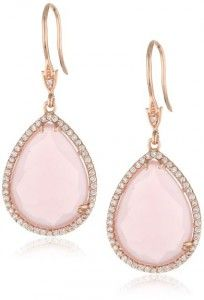 "CZ by Kenneth Jay Lane ""Trend"" Pear Doublet 25 cttw Drop Earrings"