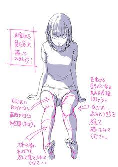 「「手前に出てくる足と膝と裏足を考える。」」/「toshi」の漫画 [pixiv]