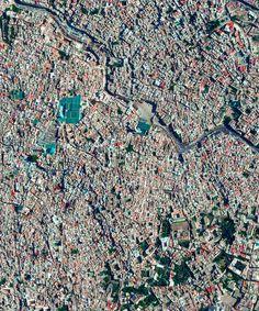 Fes el Bali, Morocco. Image Courtesy of Daily Overview. © Satellite images 2016, DigitalGlobe, Inc
