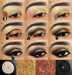 Egyptian style eye make-up