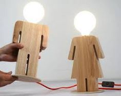 Image result for kids handmade wooden lamps