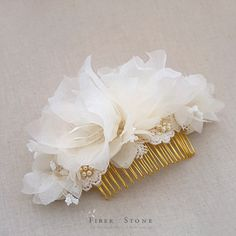 Fall Wedding Hair Accessories, Lace and Pearls, Pure Silk Flower Bridal Hair Accessories, Floral Bridal Headpiece, Ivory Wedding Headpiece