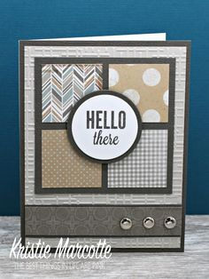 masculine hello card by Kristie Marcotte More