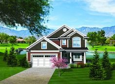 Traditional Home Plan for a Narrow Lot - 89814AH thumb - 01