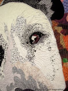 """Close up: """"Best Friend"""" by Barbara Yates Beasley. 2013 Houston IQF. Posted at Quilt Inspiration: It's Raining Cats and Dogs - Part 2"""