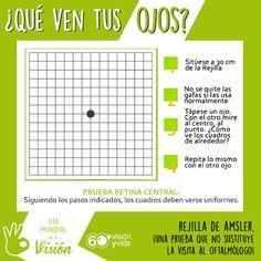 Sencillo test para comprobar por si hubiera alguna zona de la #retina sin visión. #RejilladeAmsler