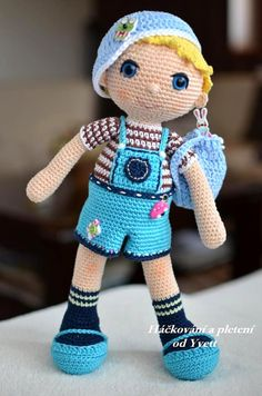 PATTERN  Boy Adam  doll crochet pattern door CrochetfromYvett