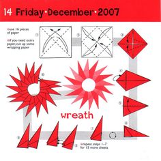 Origami Star Wreath