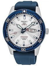 Seiko 5 Sports SRP781 Men's Limited Edition Mt Fuji Blue Band Automatic Watch