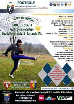 5° Tappa Nazionale #Footgolf a Gavi Golf Club (Al) sabato 12 aprile 2014 de @Federazione Italiana FootGolf