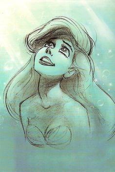 Drawings of ariel, drawing ariel, disney drawings, pencil drawings, mermaid Disney Pixar, Ariel Disney, Disney And Dreamworks, Disney Love, Disney Magic, Disney Art, Walt Disney, Goth Disney, Mermaid Disney