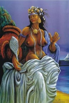 Iemanja - divine mother, divinity of the sea and loving mother of mankind.