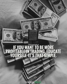 If you want to be more profitable in trading, educate yourself. It�s that simple. Education is key if you want to make more money and become a millionaire. Visit our site to download our free winning trading strategy great for traders investing and trading in Forex, Stocks, Penny Stocks, and Cryptocurrency.